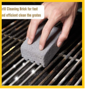 cleaning grill with sponge